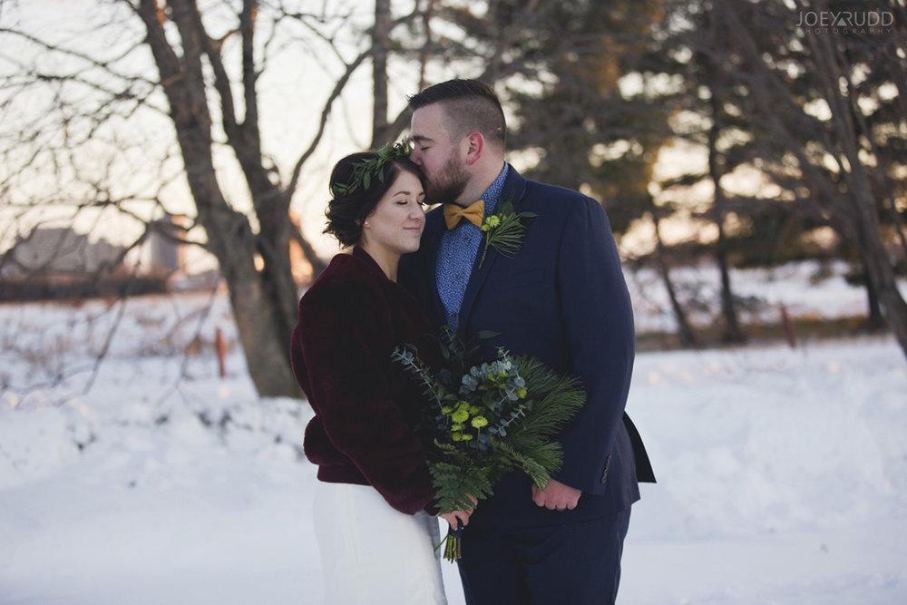 Ottawa winter wedding by ottawa wedding photographer Joey Rudd Photography sunset Pose