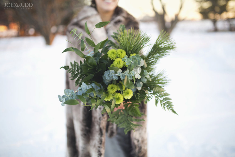Ottawa winter wedding by ottawa wedding photographer Joey Rudd Photography bouquet