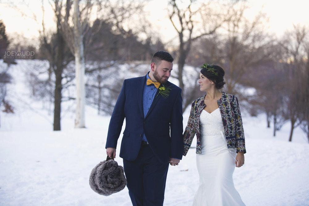 Ottawa winter wedding by ottawa wedding photographer Joey Rudd Photography Walking Candid