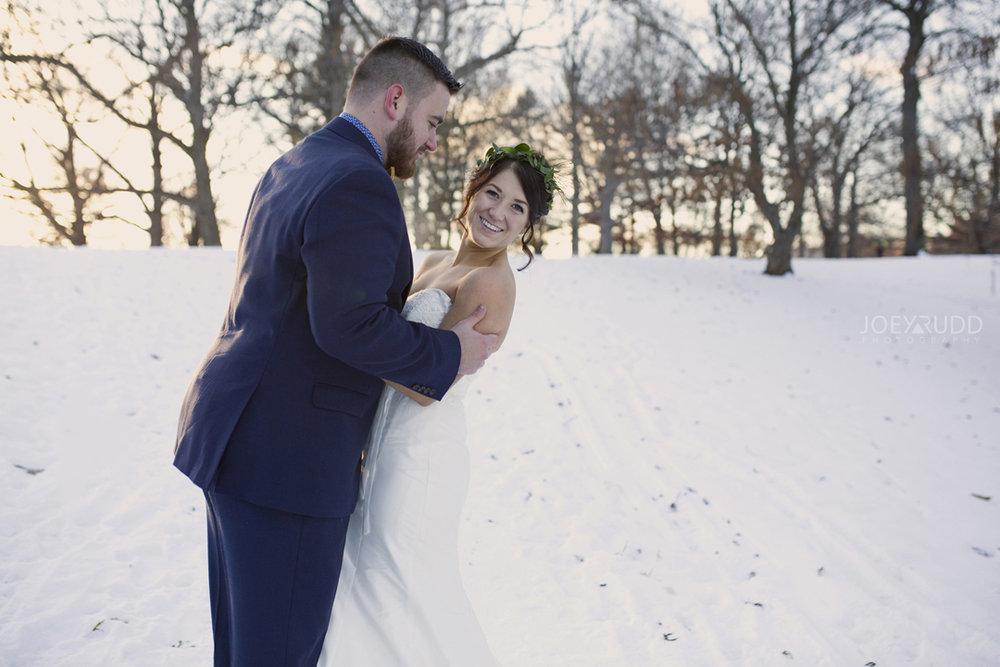Ottawa winter wedding by ottawa wedding photographer Joey Rudd Photography Bride and Groom