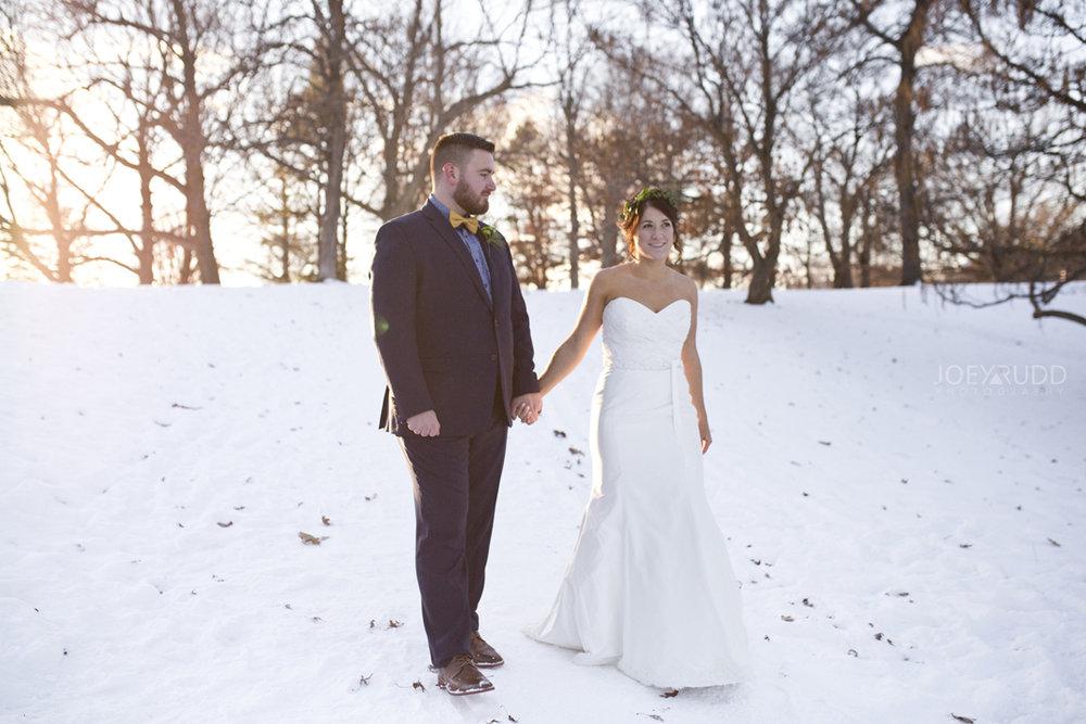 Ottawa winter wedding by ottawa wedding photographer Joey Rudd Photography Sunset Light
