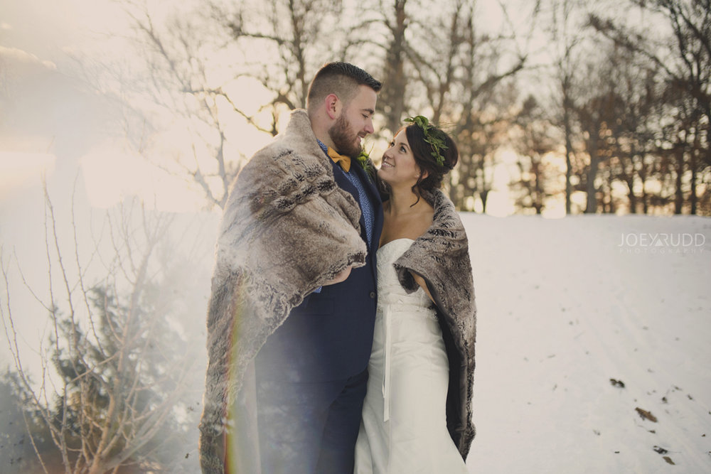 Ottawa winter wedding by ottawa wedding photographer Joey Rudd Photography Double Exposure Multiple Exposure Sunset