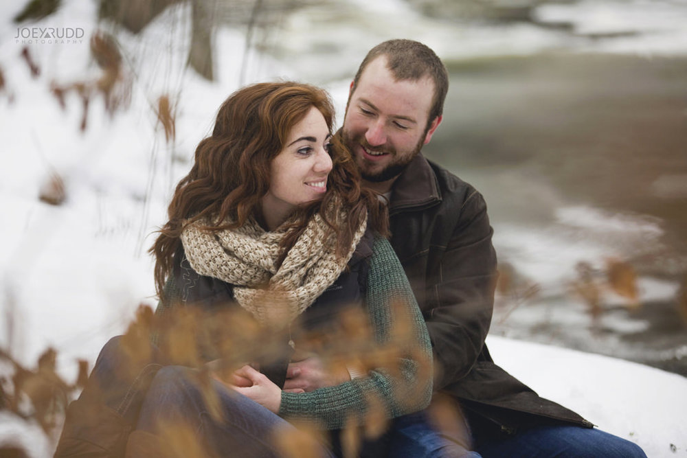 Almonte Engagement at the Mill of Kintail by Ottawa Wedding Photographer Joey Rudd Photography Winter River