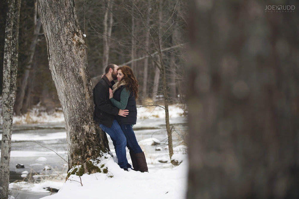 Almonte Engagement at the Mill of Kintail by Ottawa Wedding Photographer Joey Rudd Photography Winter trees