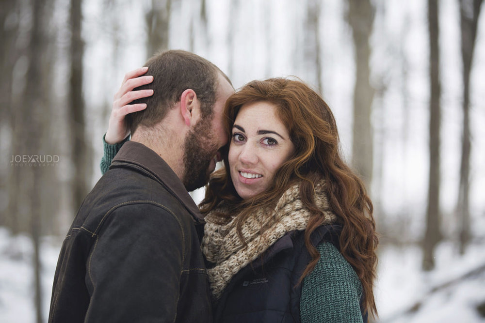 Almonte Engagement at the Mill of Kintail by Ottawa Wedding Photographer Joey Rudd Photography Winter lifestyle