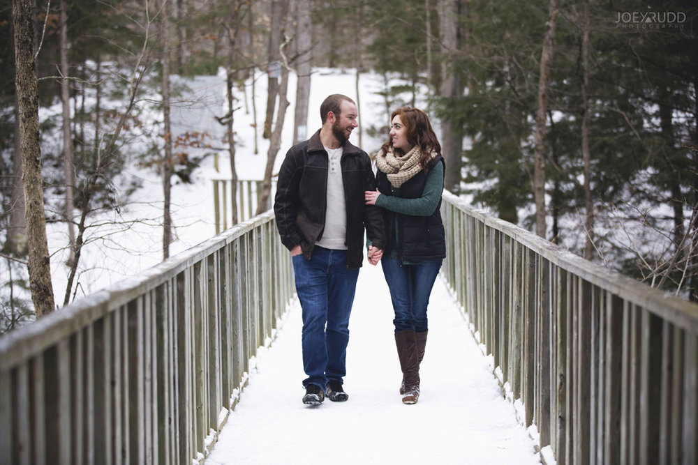 Almonte Engagement at the Mill of Kintail by Ottawa Wedding Photographer Joey Rudd Photography Winter non-traditional