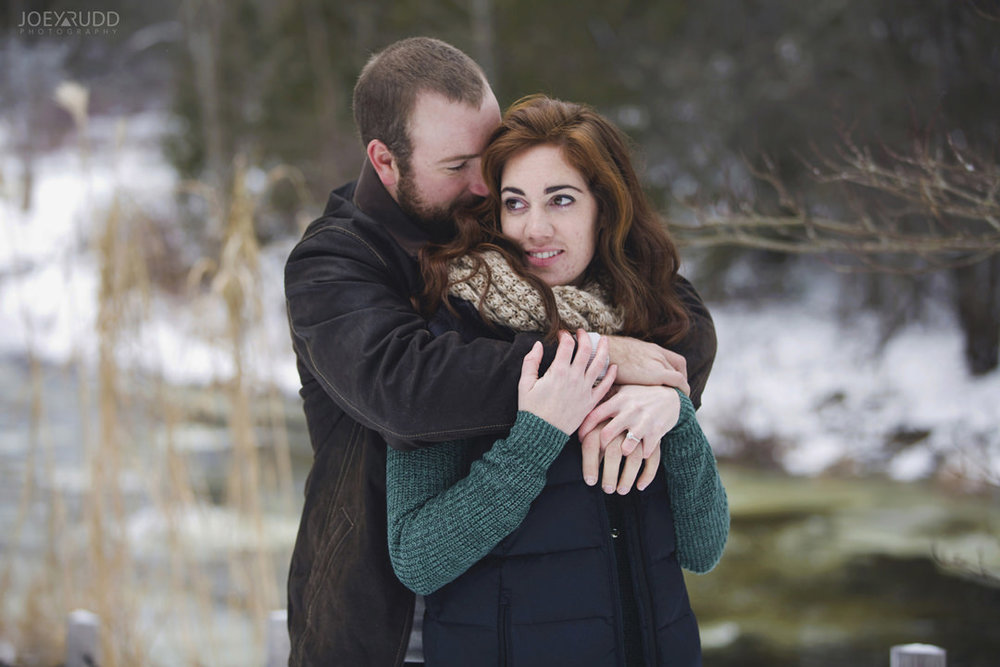 Almonte Engagement at the Mill of Kintail by Ottawa Wedding Photographer Joey Rudd Photography Winter Candid