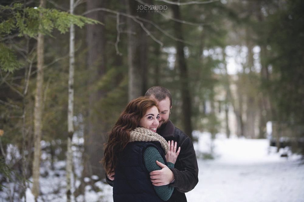 Almonte Engagement at the Mill of Kintail by Ottawa Wedding Photographer Joey Rudd Photography Winter path