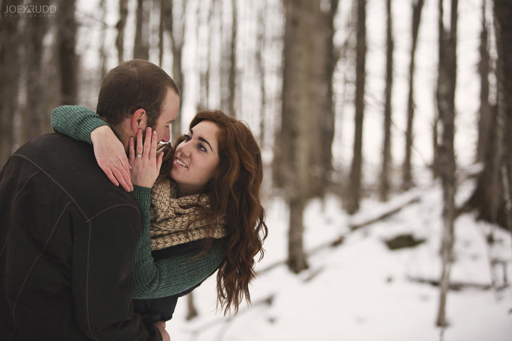 Almonte Engagement at the Mill of Kintail by Ottawa Wedding Photographer Joey Rudd Photography Winter dip