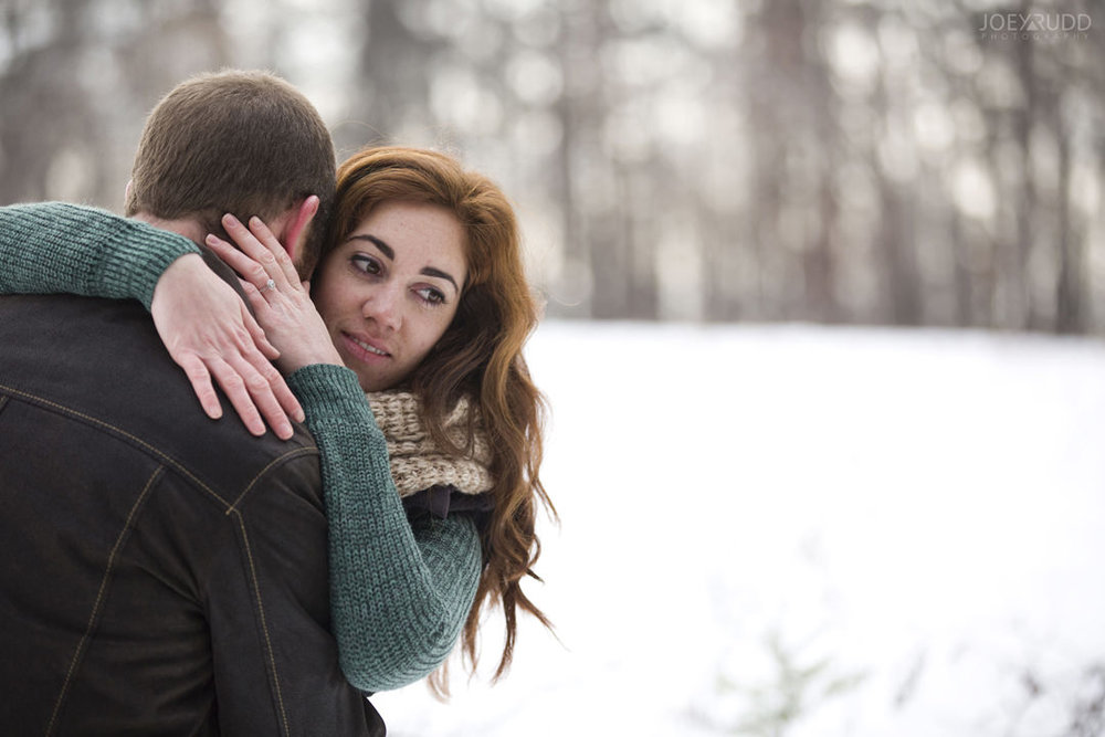 Almonte Engagement at the Mill of Kintail by Ottawa Wedding Photographer Joey Rudd Photography Winter hug