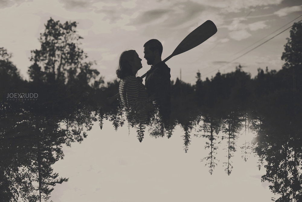 Best of 2016 Ottawa Wedding Photographer Joey Rudd Photography Candid Lifestyle Photojournalistic Wedding Photos Double Exposure Canoe