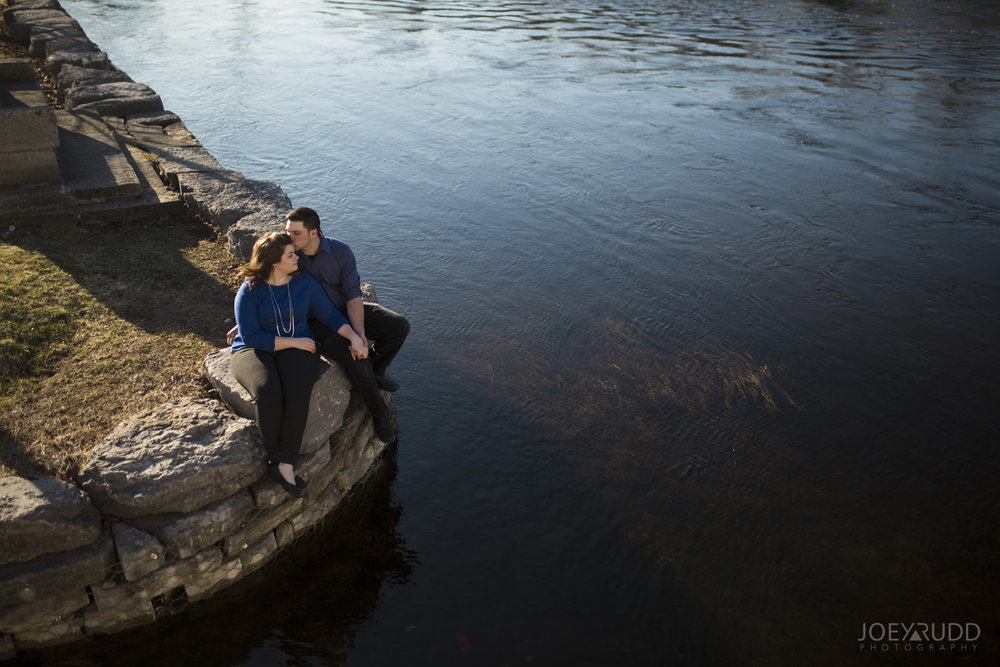 Almonte engagement photography by ottawa wedding photographer joey rudd photography water river