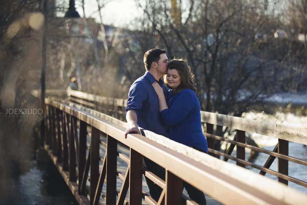 Almonte engagement photography by ottawa wedding photographer joey rudd photography bridge