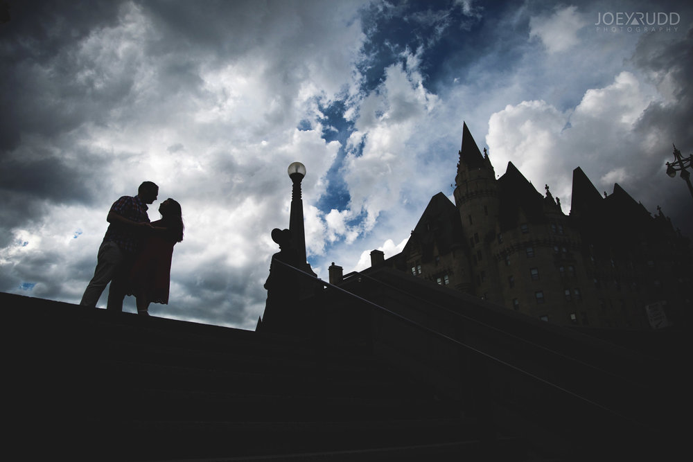 Ottawa Engagement Photography by Ottawa Photographer Joey Rudd Photography Chateau Laurier Downtown