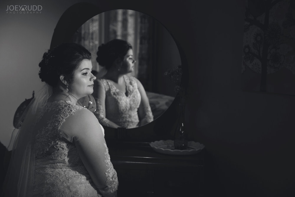 Almonte Wedding by Ottawa Wedding Photographer Joey Rudd Photography Bride Mirror