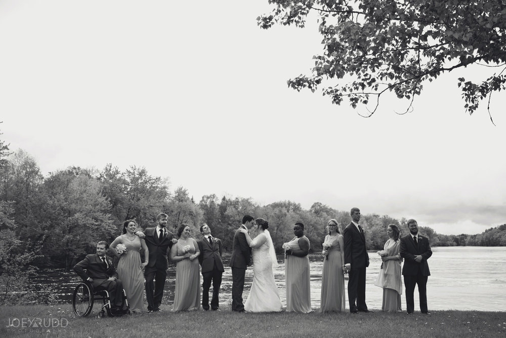 Almonte Wedding by Ottawa Wedding Photographer Joey Rudd Photography Wedding Party River Shot