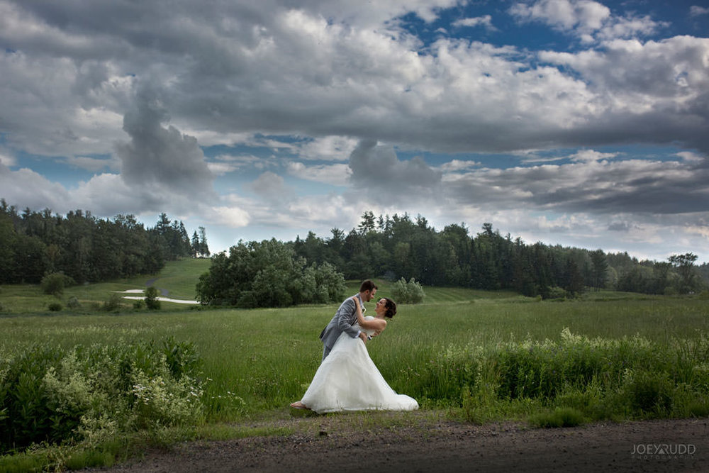 Val-des-Monts Wedding by ottawa wedding photographer joey rudd photography dramatic sky rain