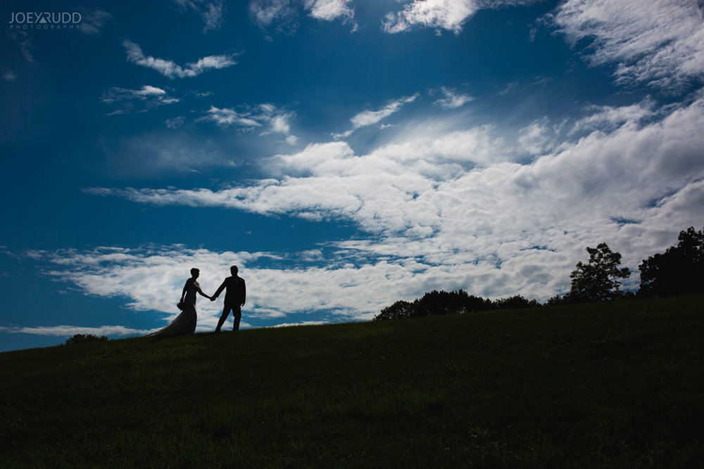 Ottawa Wedding at the Arboretum by Ottawa Wedding Photographer Joey Rudd Photography Hill Sky Clouds Candid Lifestyle