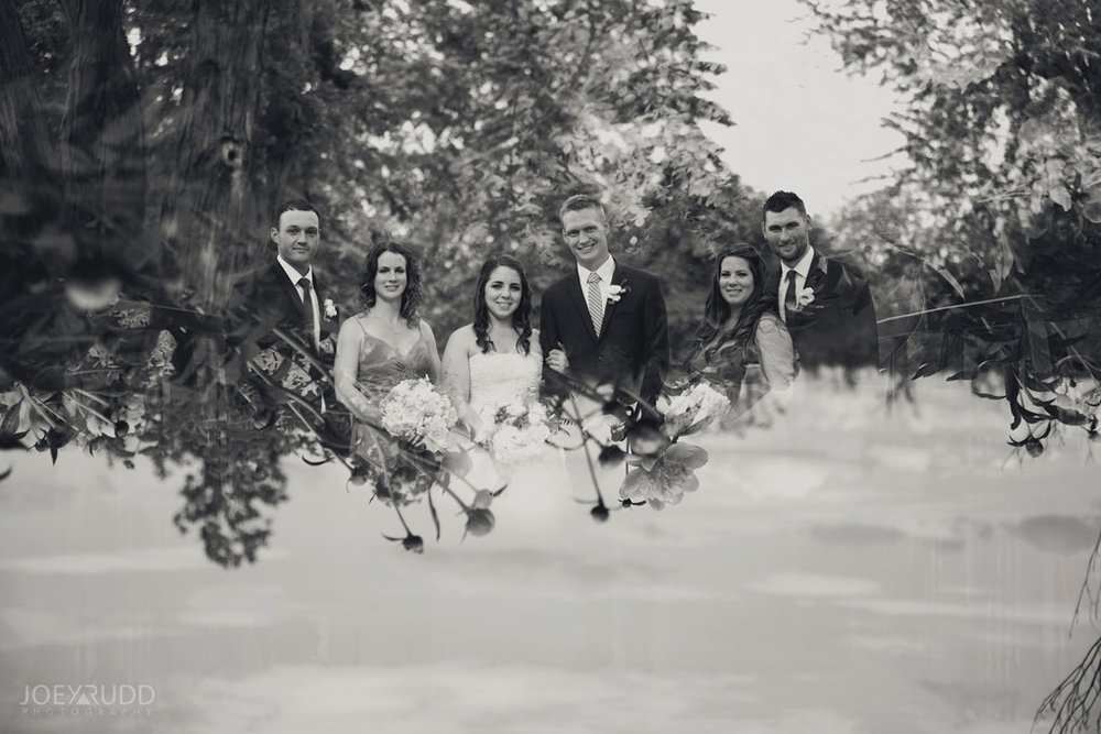 Wedding Perth Stewart Park Code's Mill Ottawa Wedidng Photographer Joey Rudd Photography Wedding Party Double Exposure Photograph