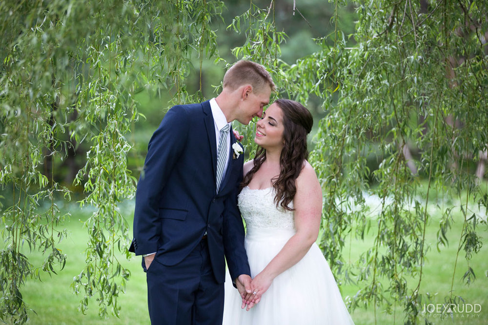Wedding Perth Stewart Park Code's Mill Ottawa Wedidng Photographer Joey Rudd Photography Couple Willow Trees