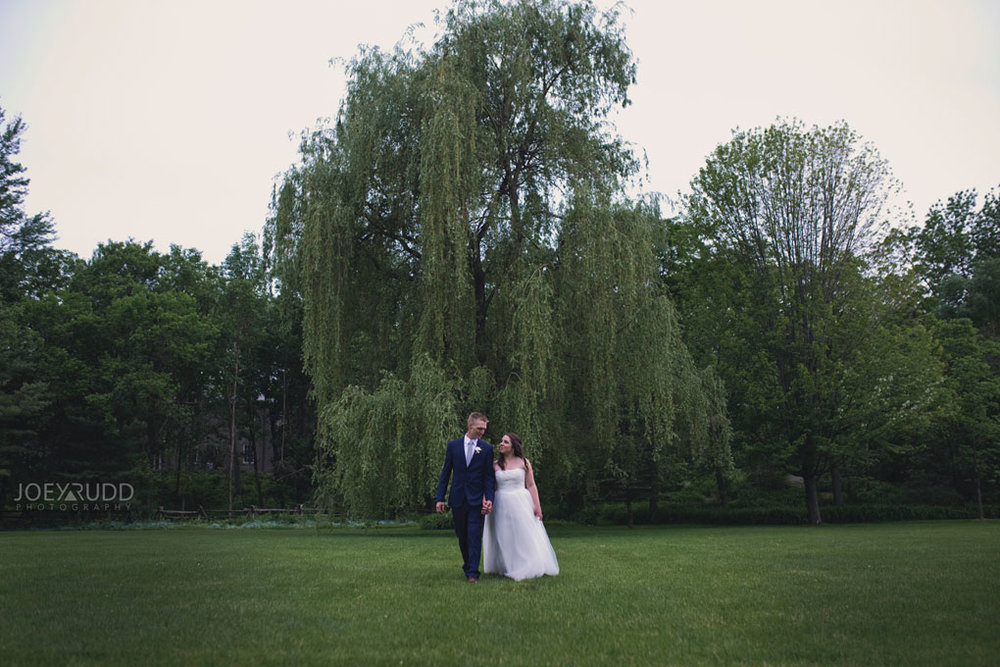 Wedding Perth Stewart Park Code's Mill Ottawa Wedidng Photographer Joey Rudd Photography Couple Walking in Park