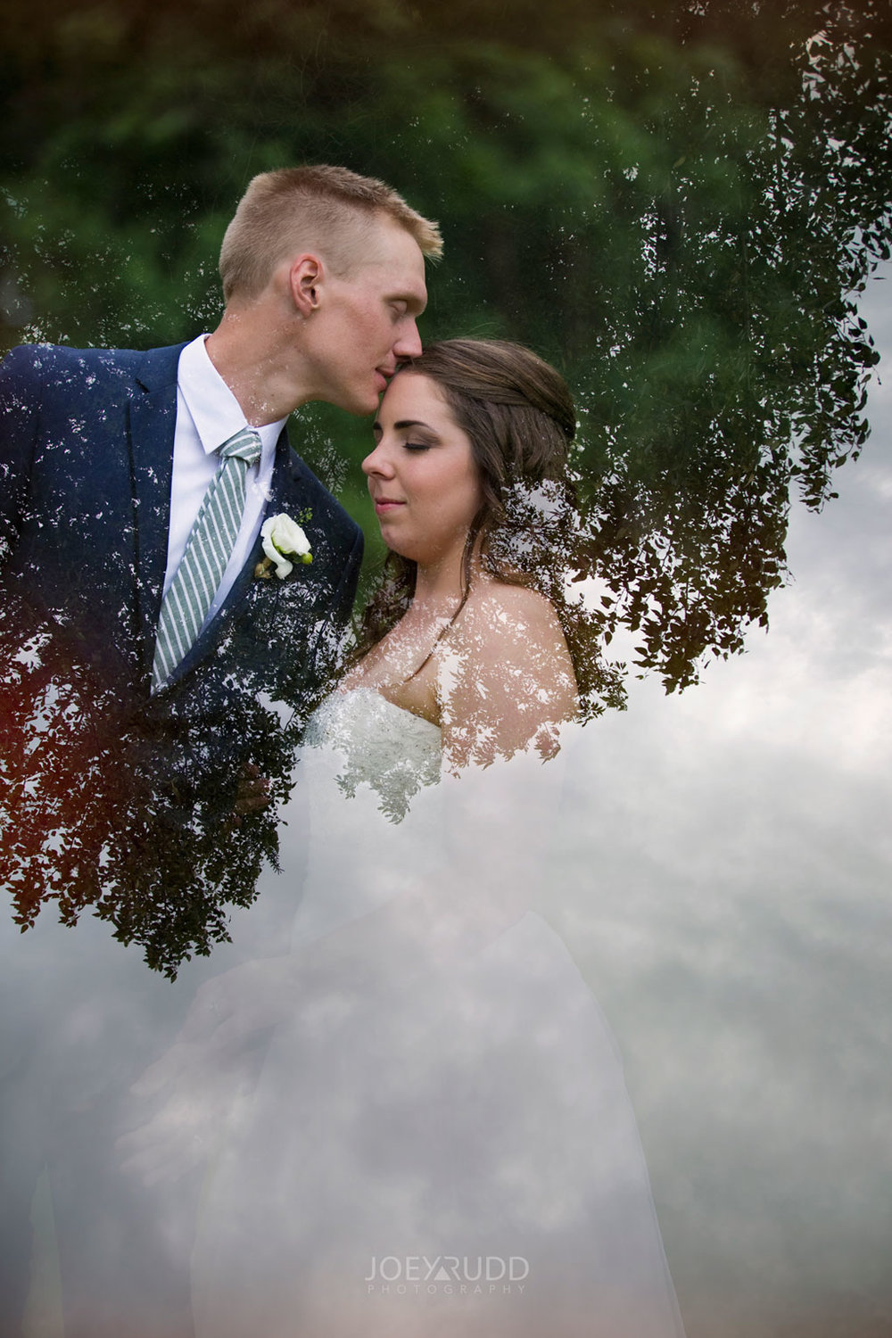 Wedding Perth Stewart Park Code's Mill Ottawa Wedidng Photographer Joey Rudd Photography Couple Double Expsure Creative