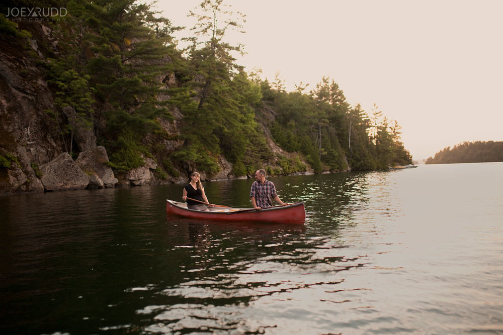 Engagement Photo Renfrew County Lake Clear Ottawa Wedding Photographer Joey Rudd Photography Sunset Canoe