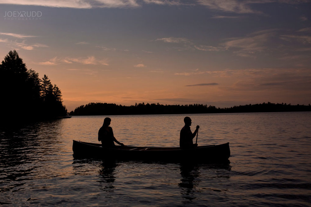 Engagement Photo Renfrew County Lake Clear Ottawa Wedding Photographer Joey Rudd Photography Sunset Canoe Nature