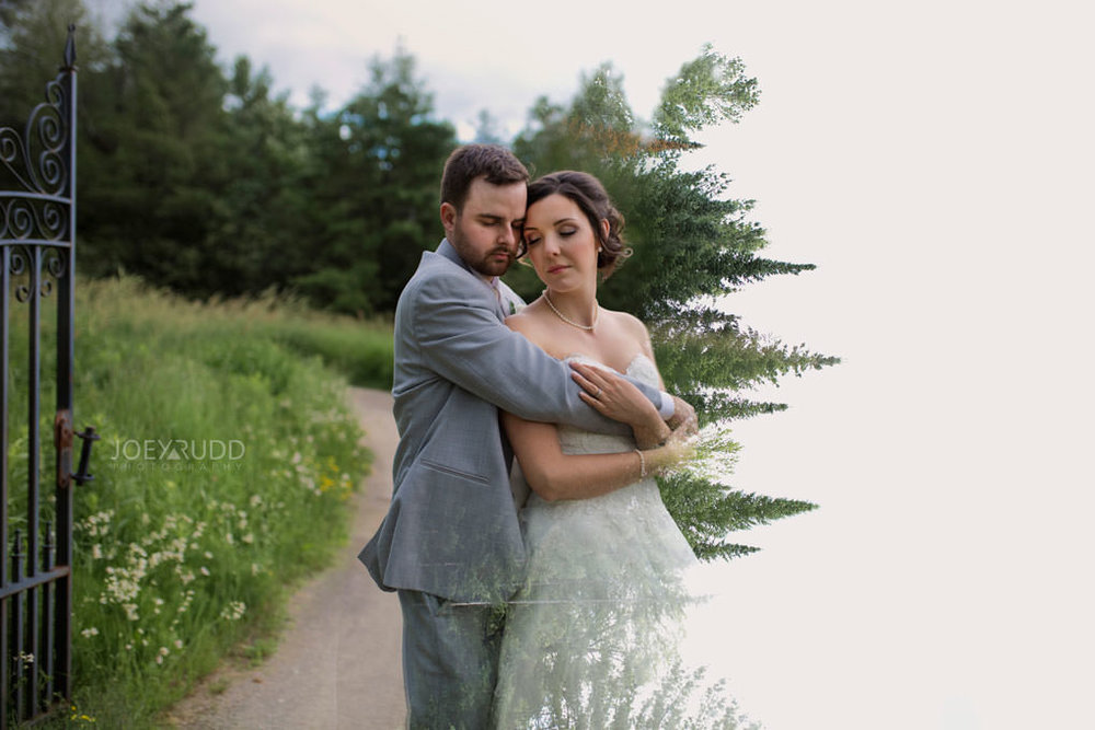 Val-des-Monts Wedding by Ottawa Wedding Photographer Joey Rudd Photography Cottage Wedding double exposure