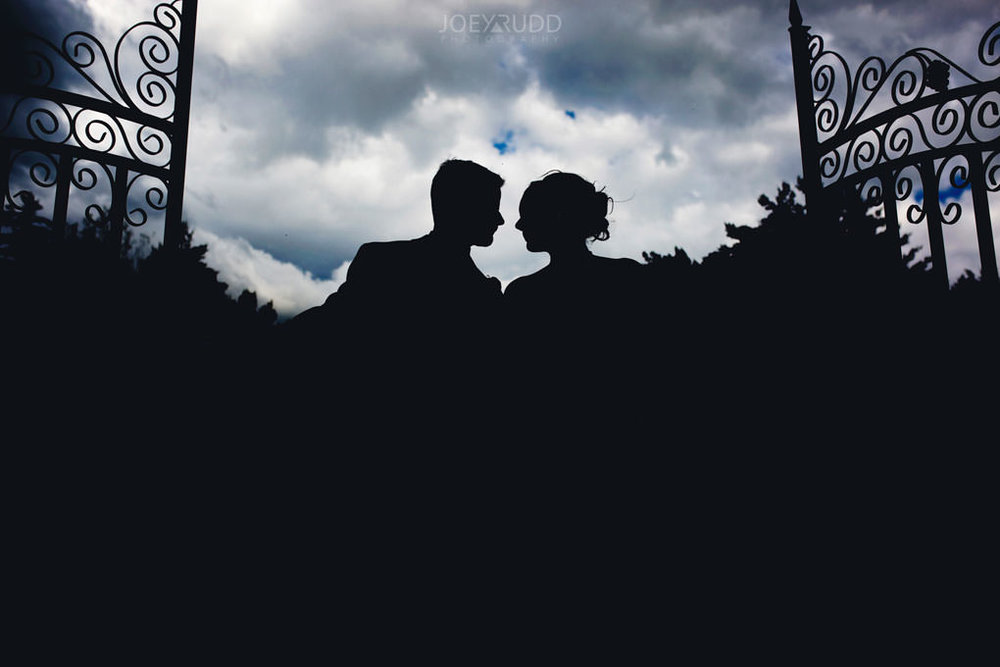 Val-des-Monts Wedding by Ottawa Wedding Photographer Joey Rudd Photography Cottage Wedding Silhouette