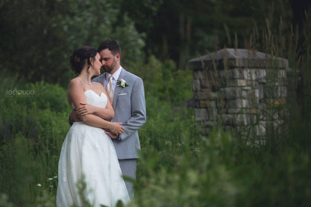 Val-des-Monts Wedding by Ottawa Wedding Photographer Joey Rudd Photography Cottage Wedding Nature Outside