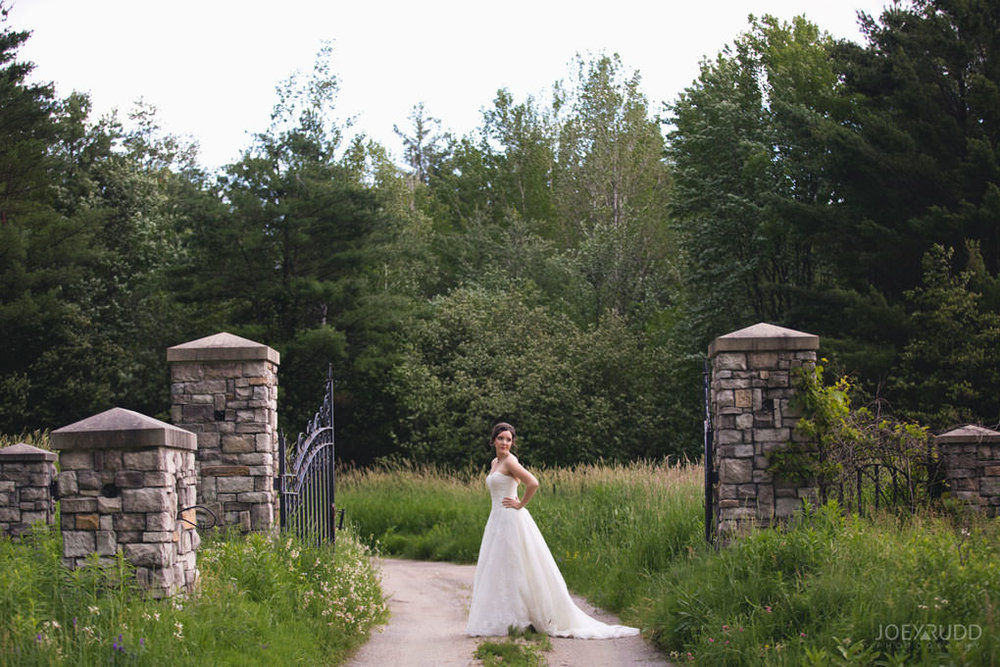 Val-des-Monts Wedding by Ottawa Wedding Photographer Joey Rudd Photography Cottage Wedding Bridal Portrait