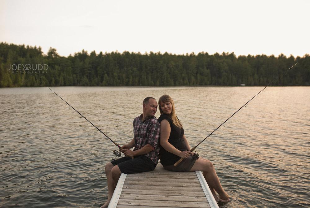 Cottage Engagement Session by Ottawa Wedding Photographer Joey Rudd Photography Dock Lifestyle