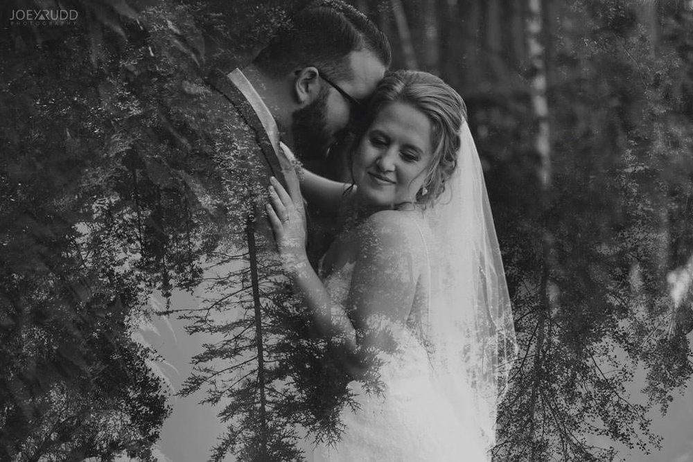 Bean Town Ranch Wedding by Ottawa Wedding Photographer Joey Rudd Photography Barn Rustic Double Exposure Trees