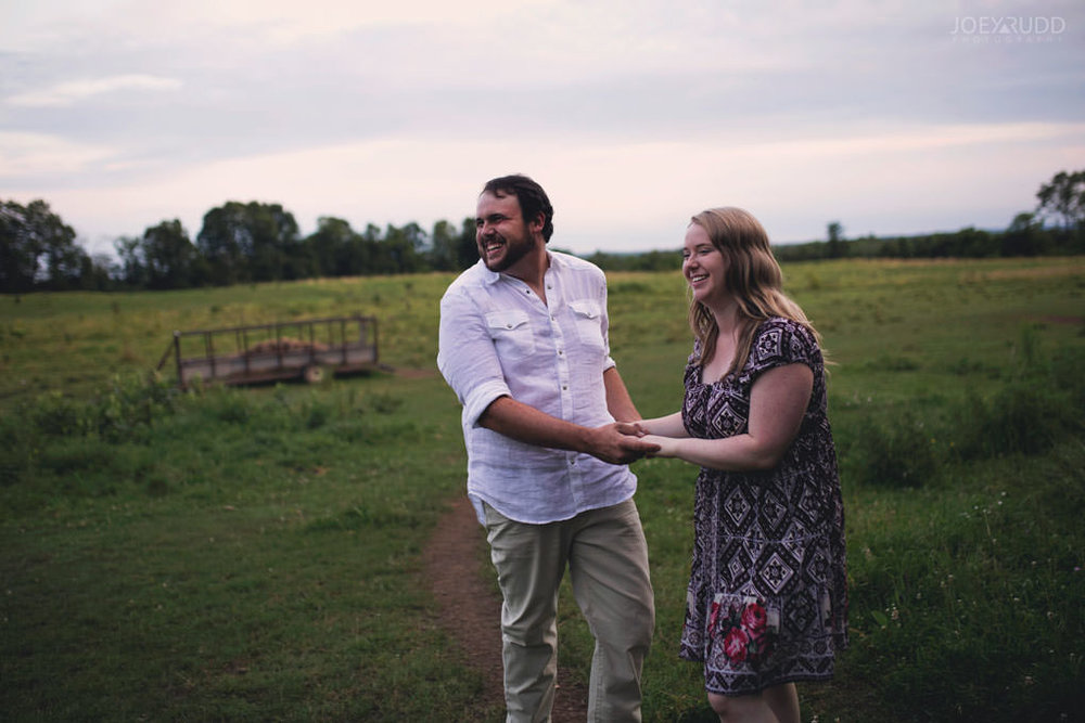Engagement Session by Ottawa Wedding Photographer Joey Rudd Photography dancing sunset