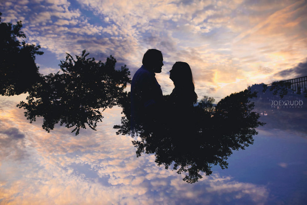 Engagement Session by Ottawa Wedding Photographer Joey Rudd Photography double exposure sunset