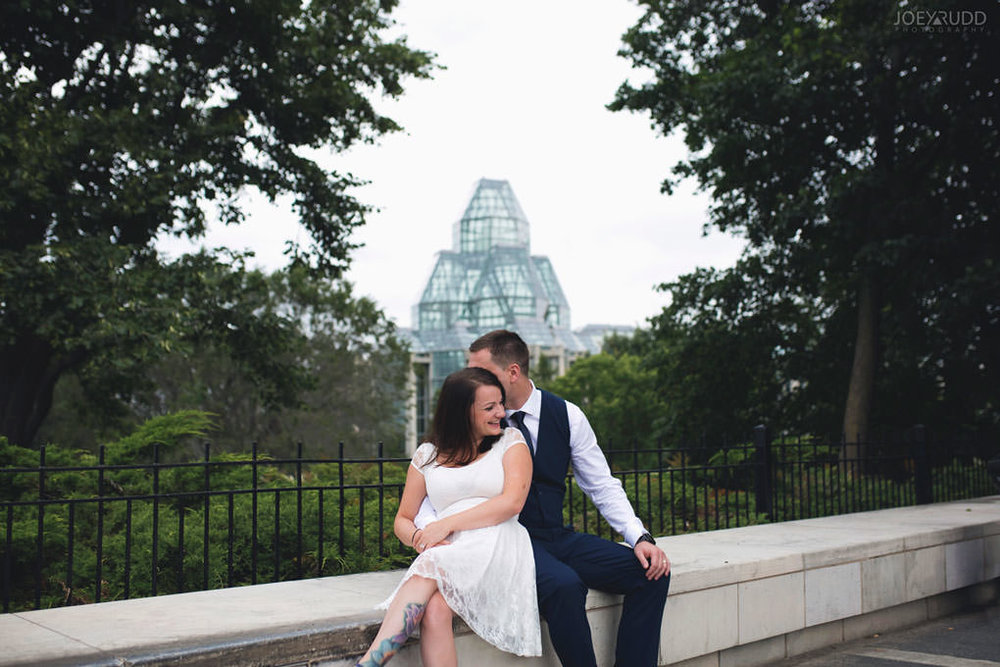 Ottawa Elopement Wedding by Ottawa Wedding Photographer Joey Rudd Photography Art Gallery Major's Hill Park Parliament Chateau Laurier Exceptional Ceremonies Cityscape Urban