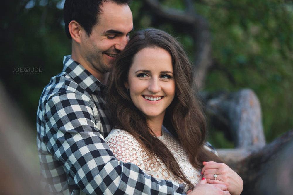 Engagement session at the Arboretum by Ottawa Wedding Photographer Joey Rudd Photography Nature Tree Park Happy