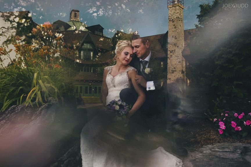 wedding at chateau montebello by ottawa wedding photographer Joey Rudd Photography double exposure