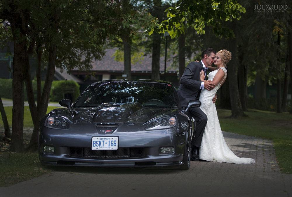 wedding at chateau montebello by ottawa wedding photographer Joey Rudd Photography Car