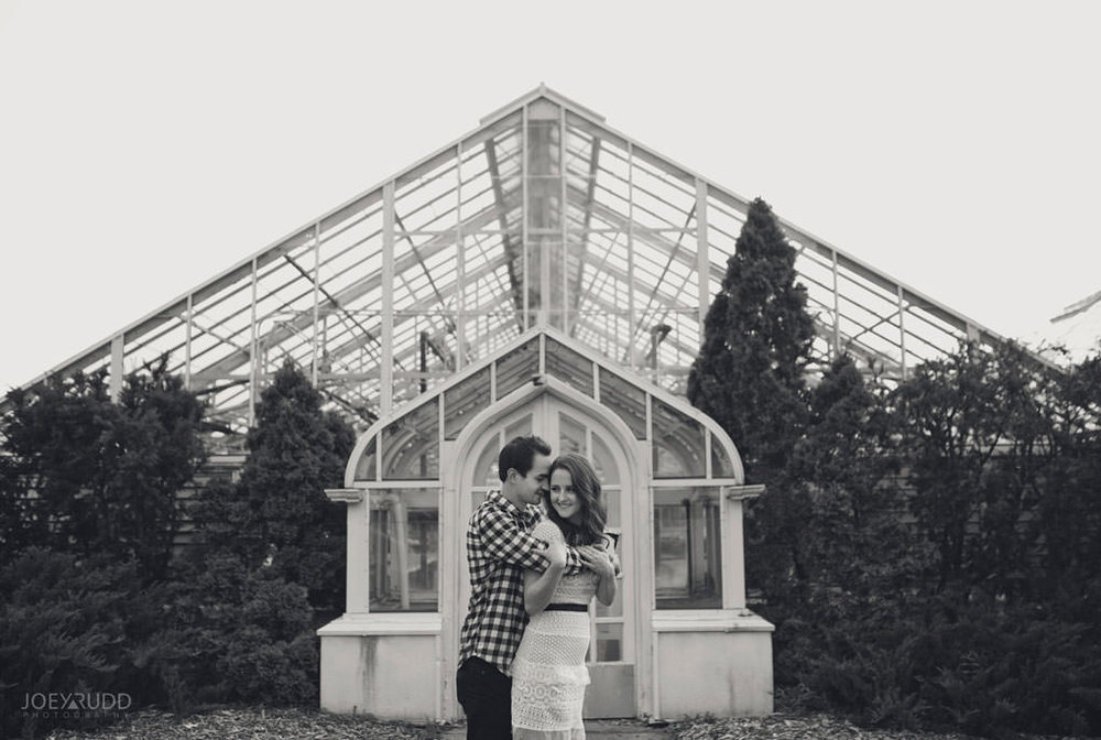 Engagement Photos at the arboretum by Ottawa Wedding Photographer Joey Rudd Photography Greenhouses