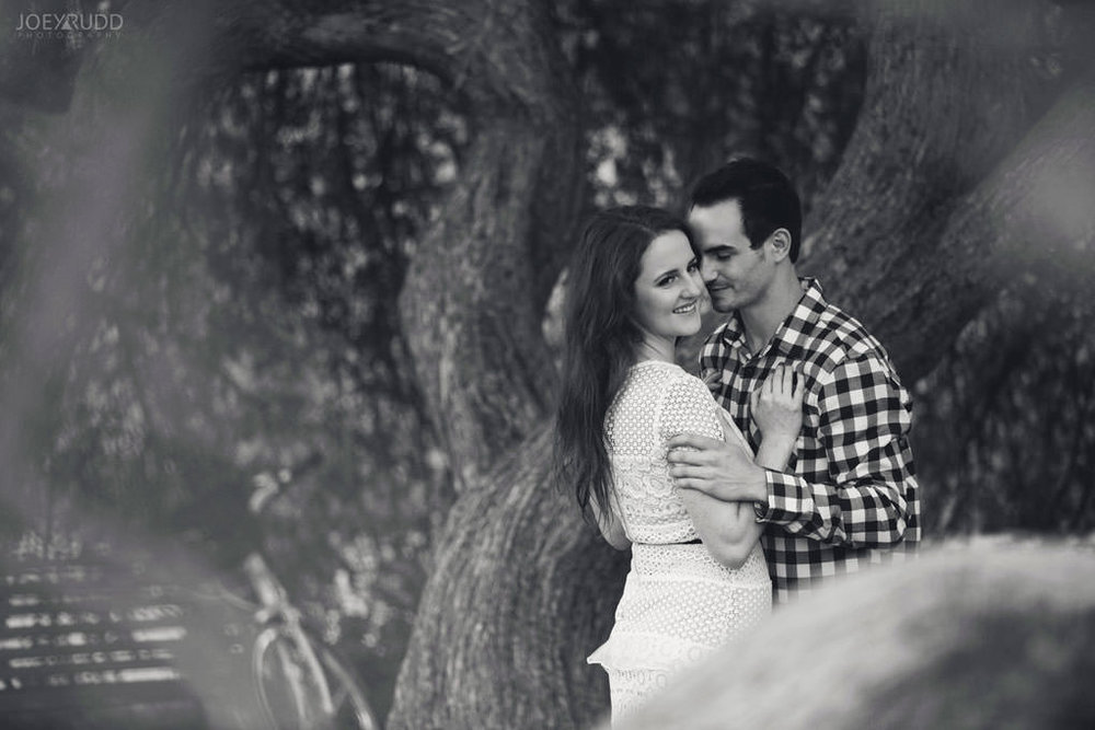 Engagement Photos at the arboretum by Ottawa Wedding Photographer Joey Rudd Photography Black and White Tree