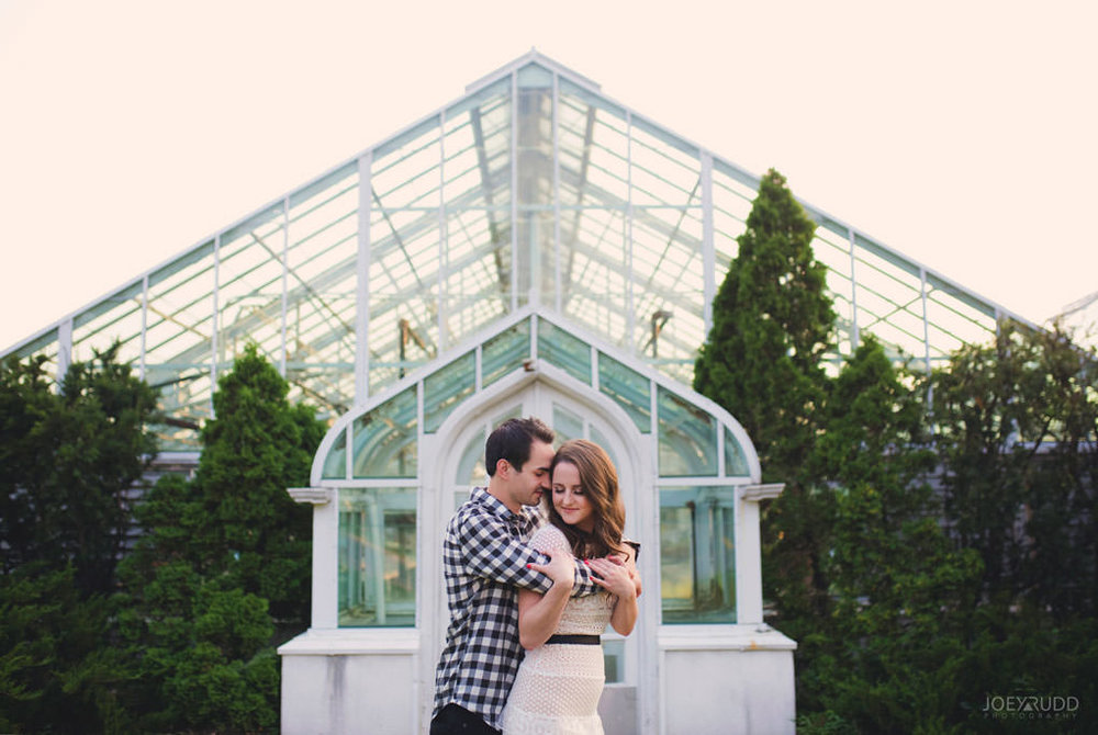 Engagement Photos at the arboretum by Ottawa Wedding Photographer Joey Rudd Photography Greenhouse Classy