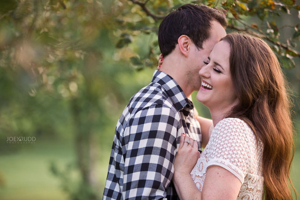 Ottawa Engagement Session at the Experimental Farm and Arboretum by Ottawa Wedding Photographer Joey Rudd Photography Laughing Pose