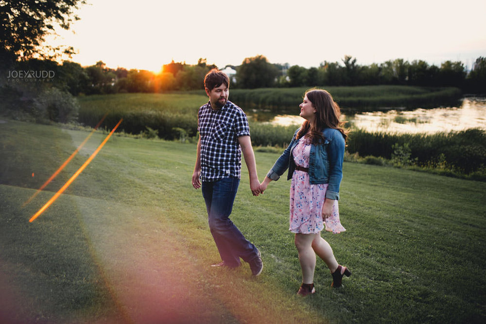 Andrw Haydon Park Engagement Photos by Ottawa Wedding Photographer Joey Rudd Photography Sun Flare Golden Hour Chasing Light Prism