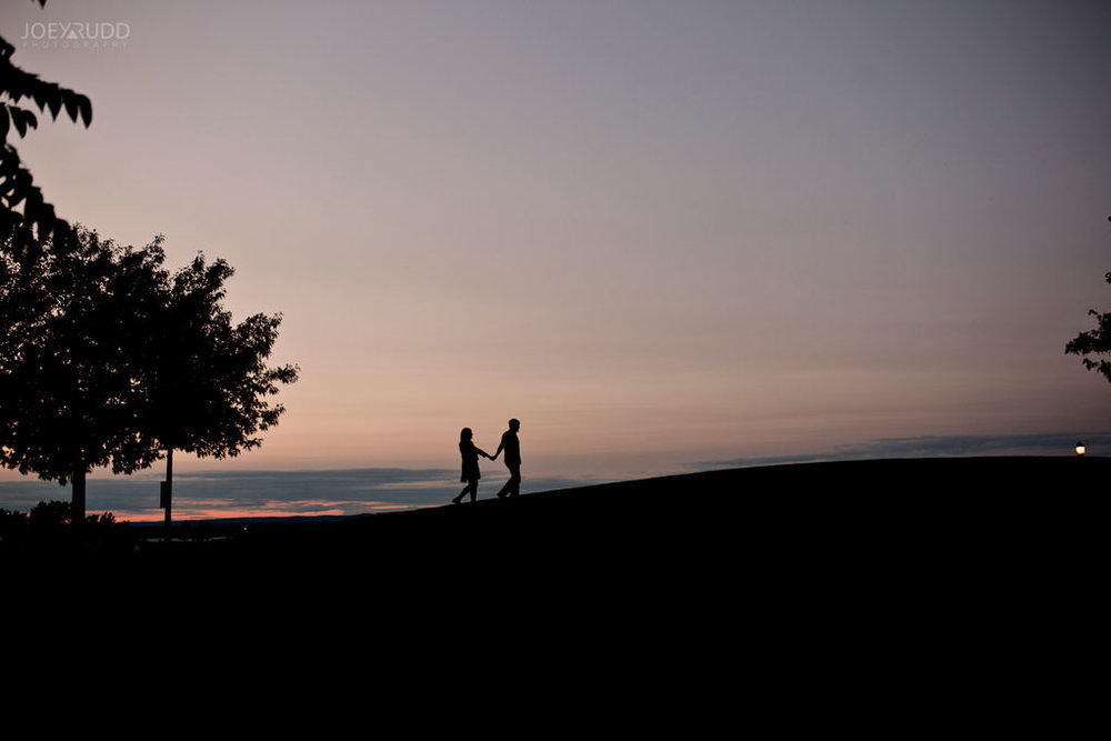 Andrw Haydon Park Engagement Photos by Ottawa Wedding Photographer Joey Rudd Photography Sunset Silhouette