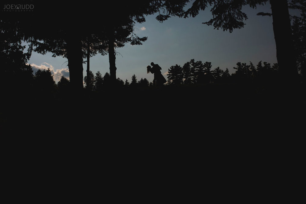Sand Point Golf Course Wedding in Arnprior by Ottawa Weding Photographer Joey Rudd Photography Silhouette