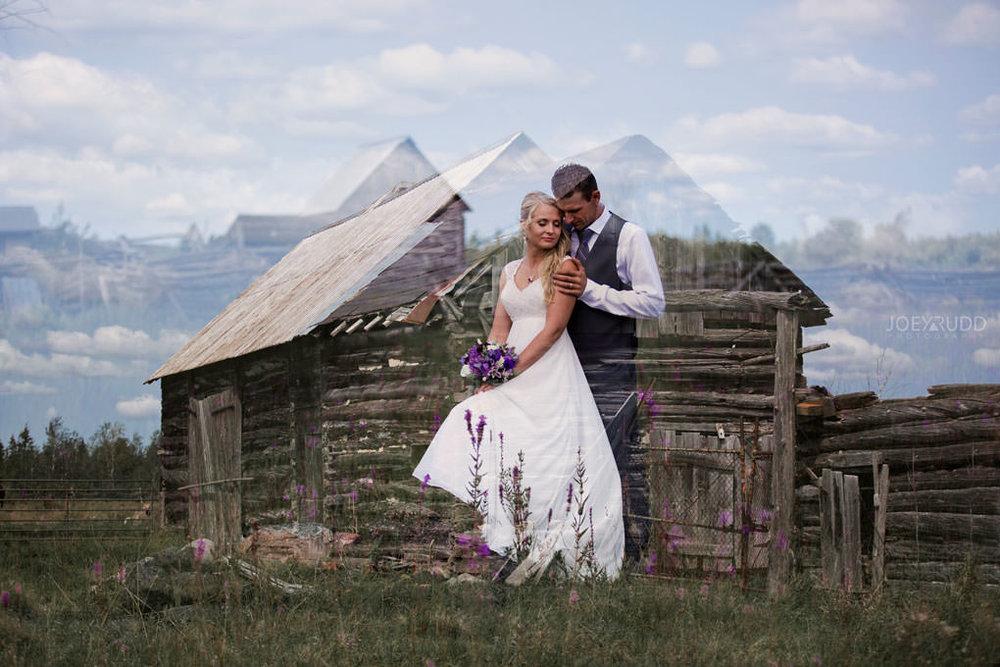 Ottawa Wedding Photography by Ottawa Wedding Photographer Joey Rudd Photography Elopement Carleton Place Smiths Falls Ontario Rustic Double Exposure