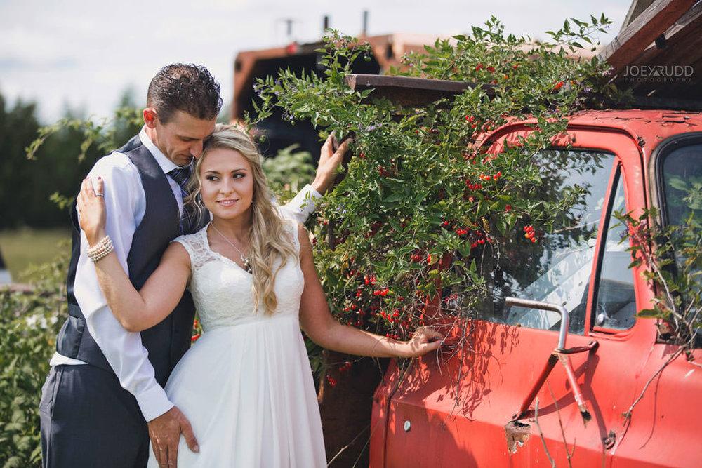 Ottawa Wedding Photography by Ottawa Wedding Photographer Joey Rudd Photography Elopement Carleton Place Smiths Falls Ontario Rustic Truck Vines