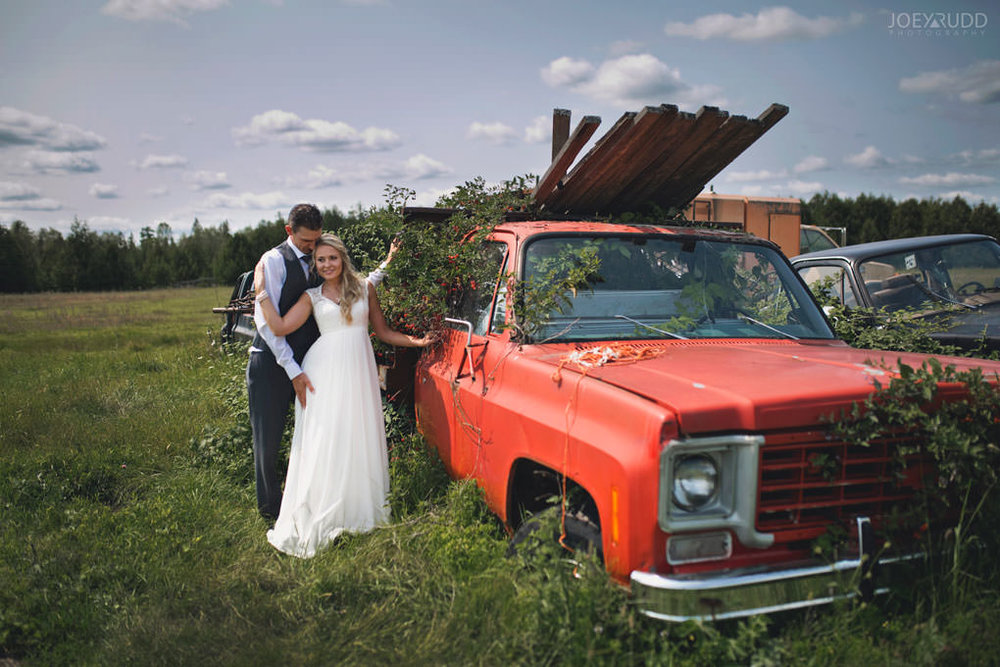 Ottawa Wedding Photography by Ottawa Wedding Photographer Joey Rudd Photography Elopement Carleton Place Smiths Falls Ontario Rustic Old Truck Nature